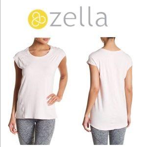 Zella Cascade cap-sleeve short sleeve scoop tee